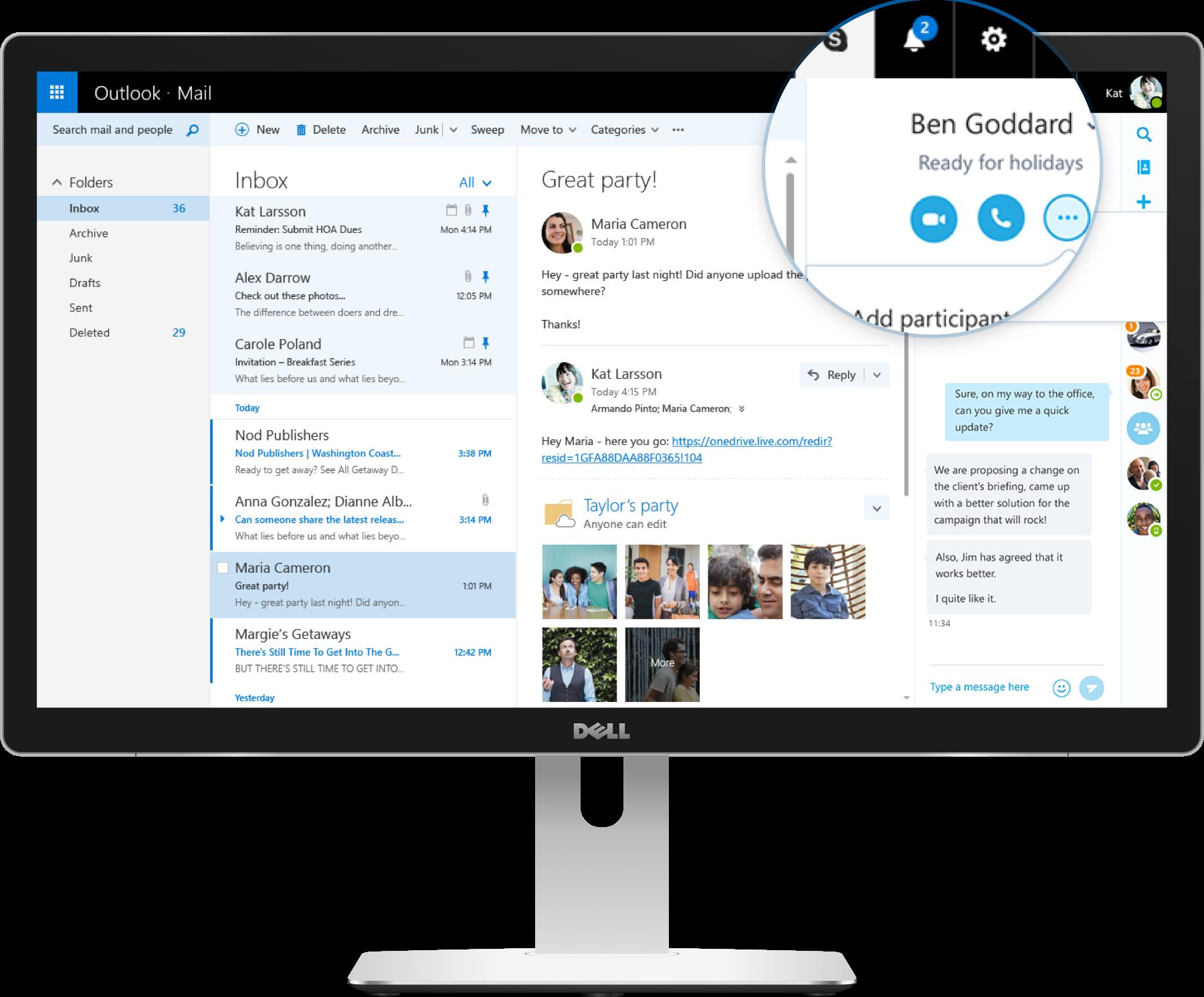 outlookcom has great skype integration - Com